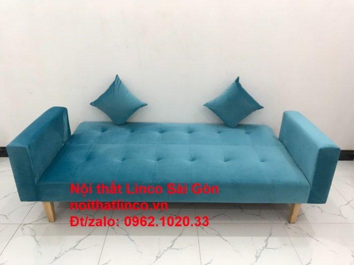 Bộ ghế sofa giường giá rẻ | salon xanh nước biển đẹp phòng khách1