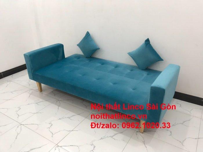 Bộ ghế sofa giường giá rẻ | salon xanh nước biển đẹp phòng khách0