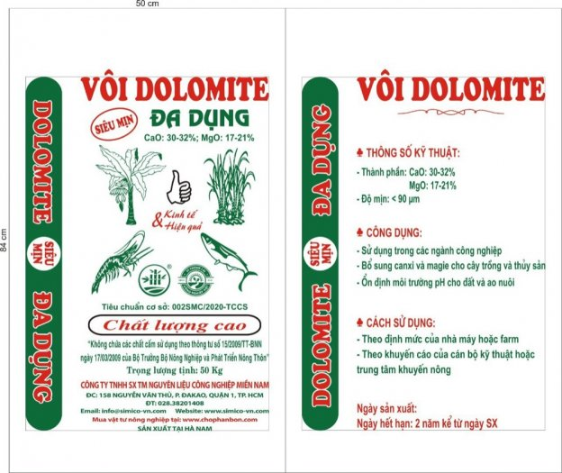 Vôi Dolomite sử dụng trong nông nghiệp, thủy sản1