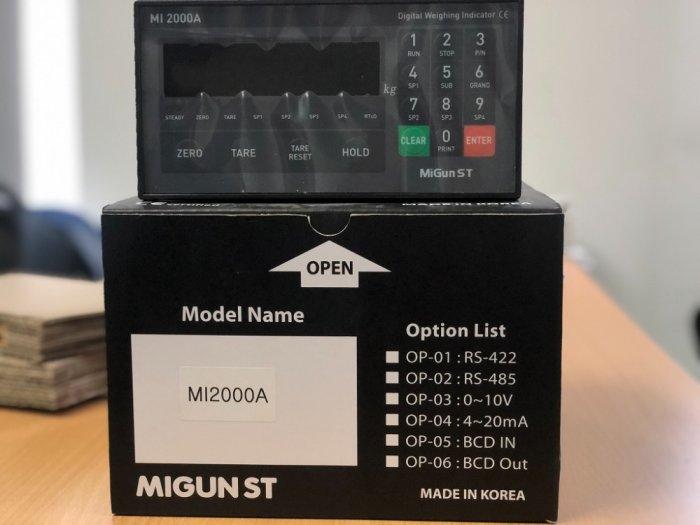 Đồng hồ cân MI2000A chuyên dùng cho trạm trộn nhiều thành phần. Nhập khẩu chính hãng Hàn Quốc : 09153226925