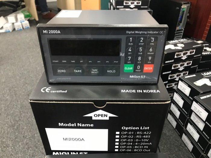 Đồng hồ cân MI2000A chuyên dùng cho trạm trộn nhiều thành phần. Nhập khẩu chính hãng Hàn Quốc : 09153226924