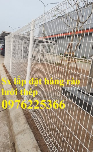 Hàng rào lưới  phi 5 ô 50*150, 50*200, 75*200 mạ kẽm sơn tĩnh điện3