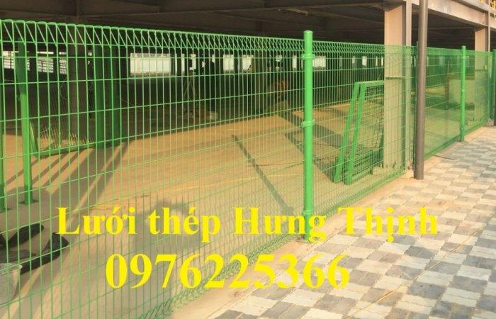 Hàng rào lưới  phi 5 ô 50*150, 50*200, 75*200 mạ kẽm sơn tĩnh điện2