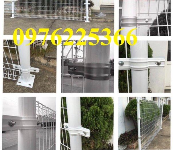 Hàng rào lưới  phi 5 ô 50*150, 50*200, 75*200 mạ kẽm sơn tĩnh điện0