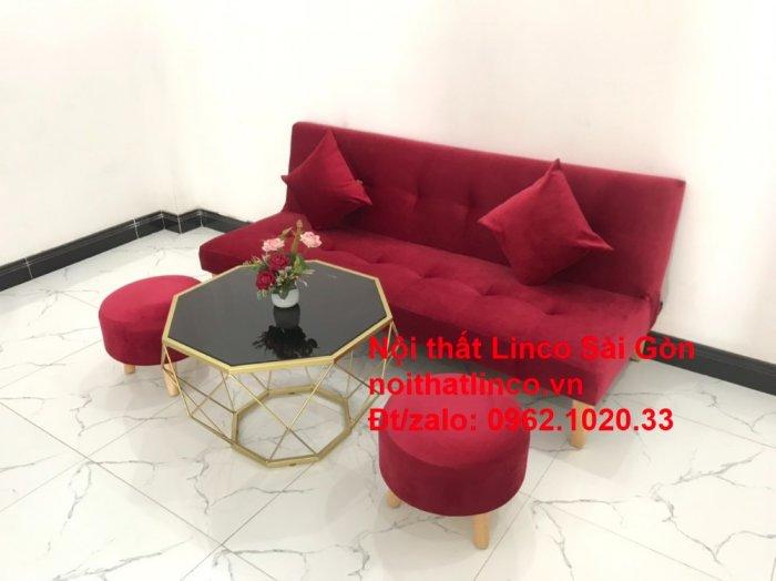 Bộ ghế sofa bed giường nằm màu đỏ mini nhỏ 1m7 giá rẻ đẹp Nội thất Linco Sài Gòn12