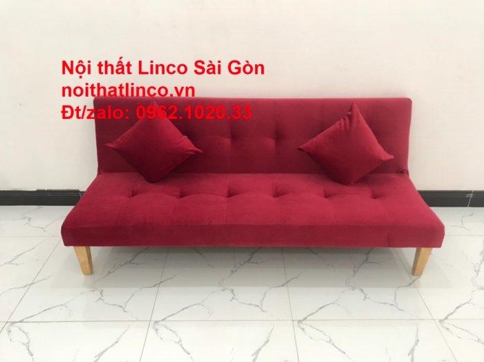Bộ ghế sofa bed giường nằm màu đỏ mini nhỏ 1m7 giá rẻ đẹp Nội thất Linco Sài Gòn4