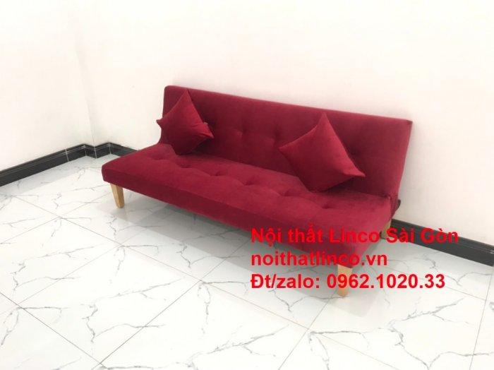 Bộ ghế sofa bed giường nằm màu đỏ mini nhỏ 1m7 giá rẻ đẹp Nội thất Linco Sài Gòn3
