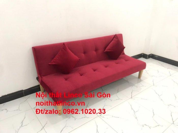 Bộ ghế sofa bed giường nằm màu đỏ mini nhỏ 1m7 giá rẻ đẹp Nội thất Linco Sài Gòn2
