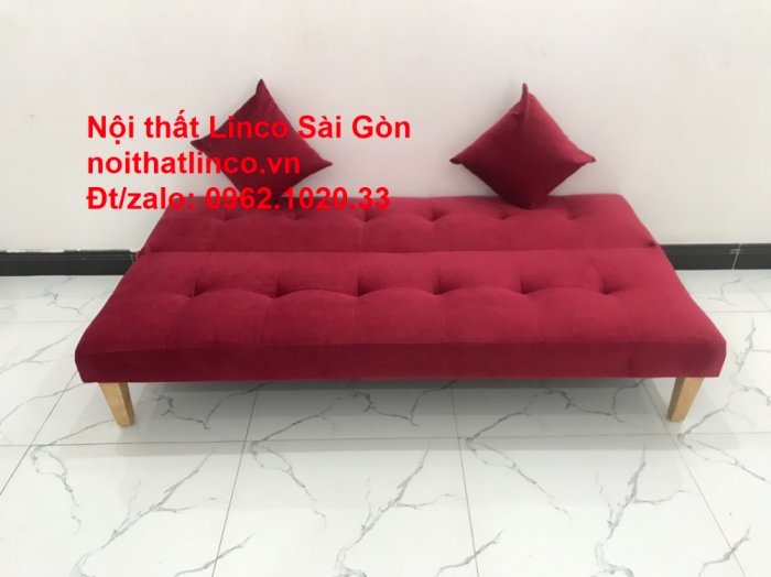 Bộ ghế sofa bed giường nằm màu đỏ mini nhỏ 1m7 giá rẻ đẹp Nội thất Linco Sài Gòn1