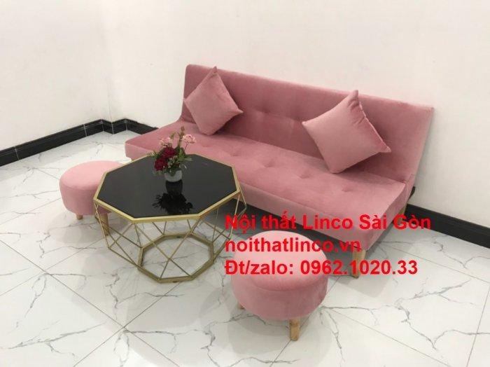 Bộ bàn ghế salon sopha màu hồng cách sen giá rẻ hiện đại Nội thất Linco Sài Gòn12