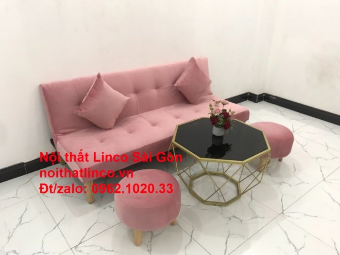 Bộ bàn ghế salon sopha màu hồng cách sen giá rẻ hiện đại Nội thất Linco Sài Gòn11