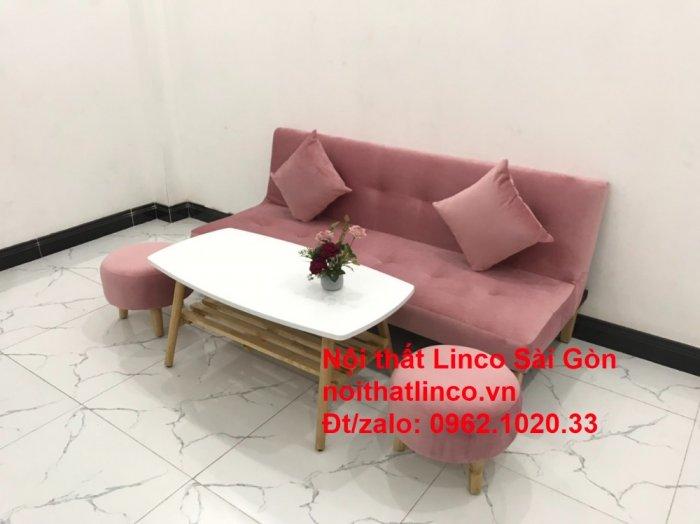 Bộ bàn ghế salon sopha màu hồng cách sen giá rẻ hiện đại Nội thất Linco Sài Gòn9