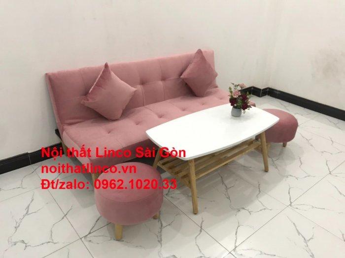 Bộ bàn ghế salon sopha màu hồng cách sen giá rẻ hiện đại Nội thất Linco Sài Gòn8