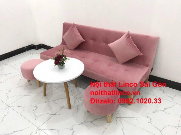 Bộ bàn ghế salon sopha màu hồng cách sen giá rẻ hiện đại Nội thất Linco Sài Gòn6