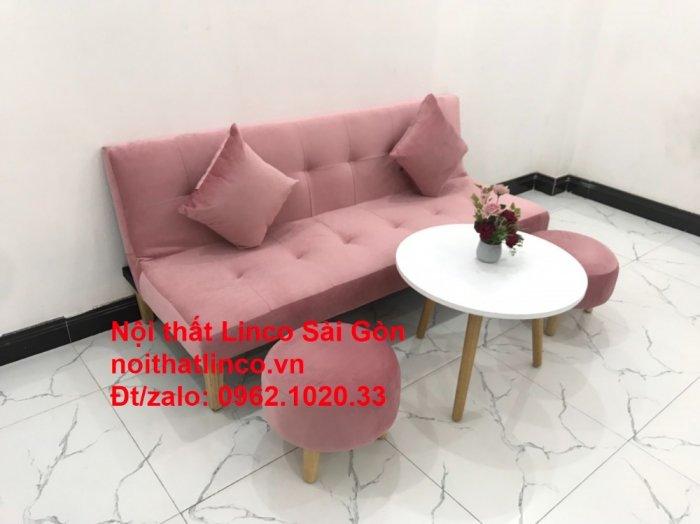 Bộ bàn ghế salon sopha màu hồng cách sen giá rẻ hiện đại Nội thất Linco Sài Gòn5