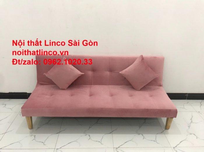 Bộ bàn ghế salon sopha màu hồng cách sen giá rẻ hiện đại Nội thất Linco Sài Gòn4