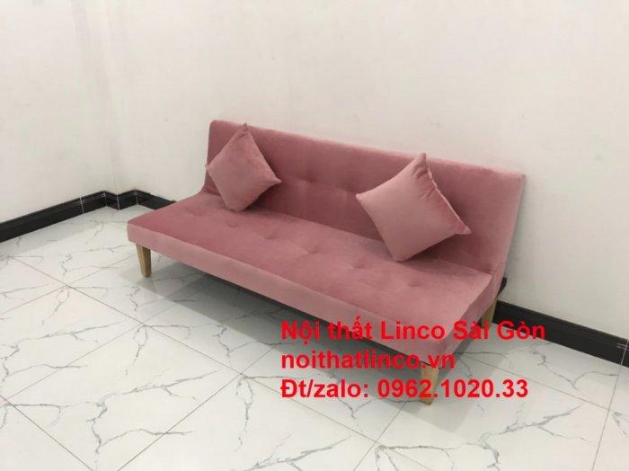 Bộ bàn ghế salon sopha màu hồng cách sen giá rẻ hiện đại Nội thất Linco Sài Gòn3