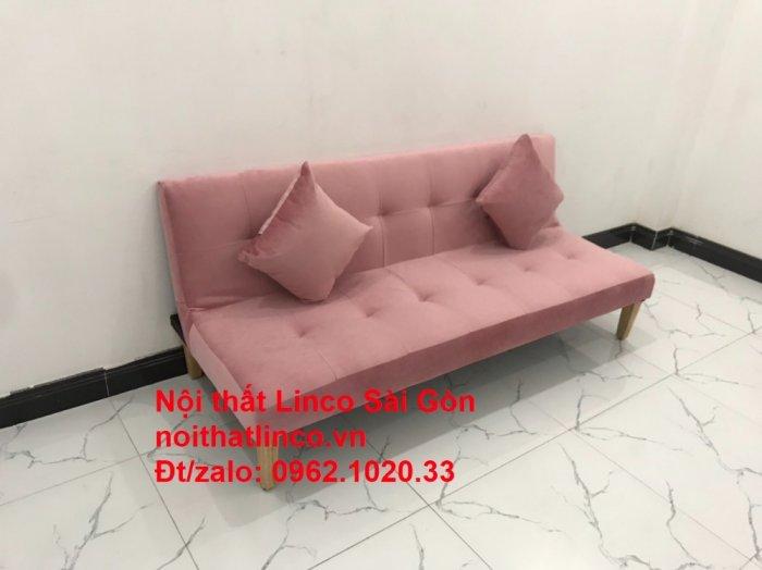 Bộ bàn ghế salon sopha màu hồng cách sen giá rẻ hiện đại Nội thất Linco Sài Gòn2