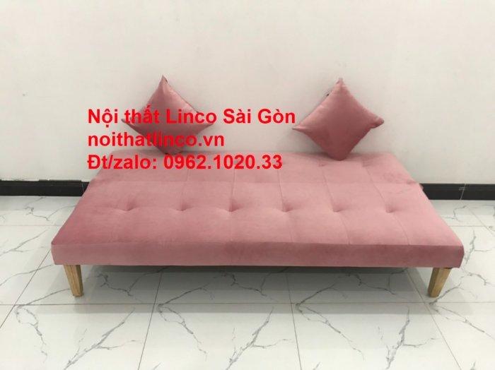 Bộ bàn ghế salon sopha màu hồng cách sen giá rẻ hiện đại Nội thất Linco Sài Gòn1