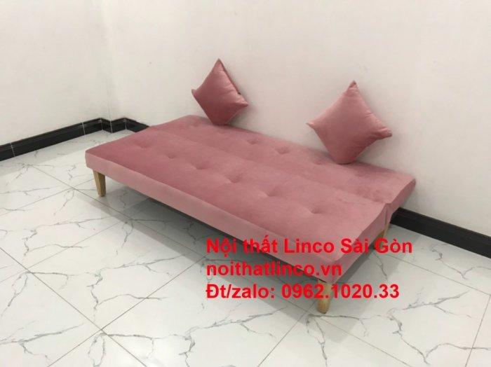 Bộ bàn ghế salon sopha màu hồng cách sen giá rẻ hiện đại Nội thất Linco Sài Gòn0