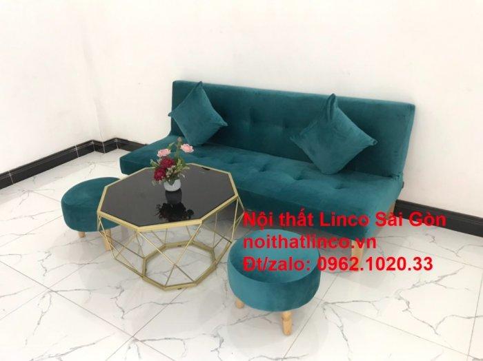 Ghế sofa giường nằm 1m7 mini giá rẻ xanh lá cây đậm đẹp | Nội Thất Linco Sài Gòn12