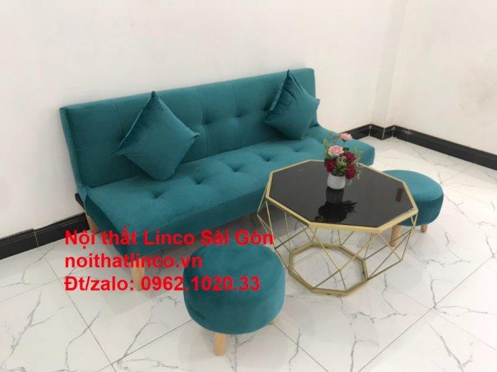 Ghế sofa giường nằm 1m7 mini giá rẻ xanh lá cây đậm đẹp | Nội Thất Linco Sài Gòn11