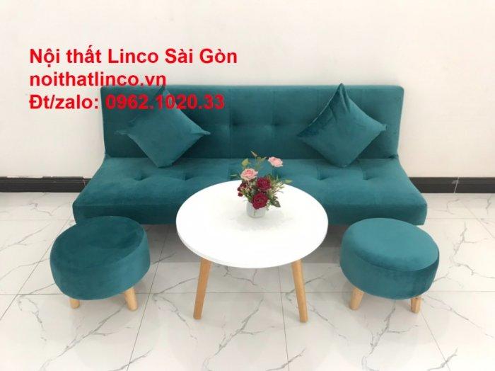Ghế sofa giường nằm 1m7 mini giá rẻ xanh lá cây đậm đẹp | Nội Thất Linco Sài Gòn7