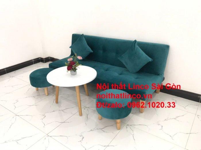 Ghế sofa giường nằm 1m7 mini giá rẻ xanh lá cây đậm đẹp | Nội Thất Linco Sài Gòn6