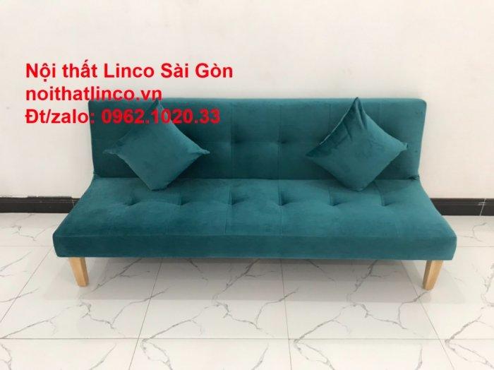 Ghế sofa giường nằm 1m7 mini giá rẻ xanh lá cây đậm đẹp | Nội Thất Linco Sài Gòn4
