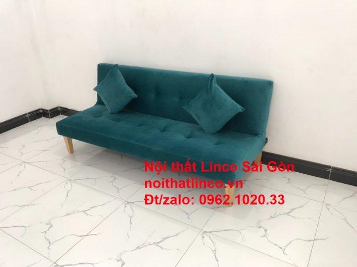 Ghế sofa giường nằm 1m7 mini giá rẻ xanh lá cây đậm đẹp | Nội Thất Linco Sài Gòn3