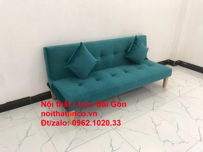 Ghế sofa giường nằm 1m7 mini giá rẻ xanh lá cây đậm đẹp | Nội Thất Linco Sài Gòn2