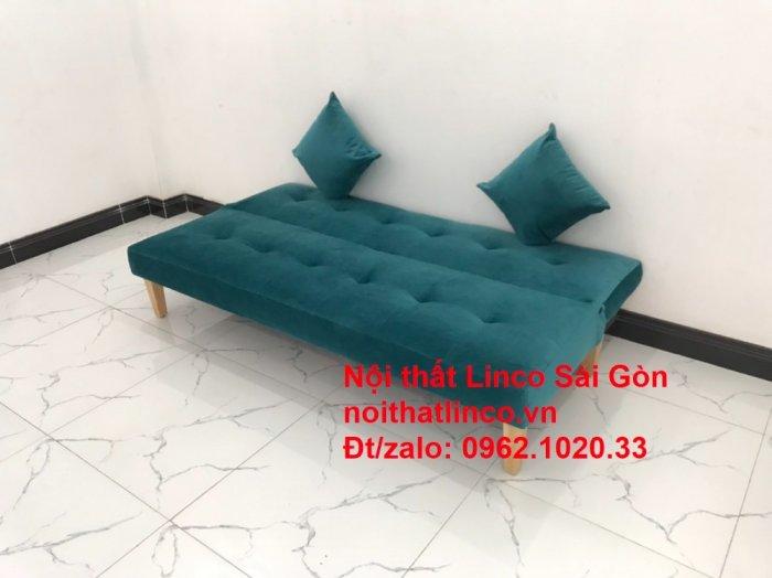 Ghế sofa giường nằm 1m7 mini giá rẻ xanh lá cây đậm đẹp | Nội Thất Linco Sài Gòn0