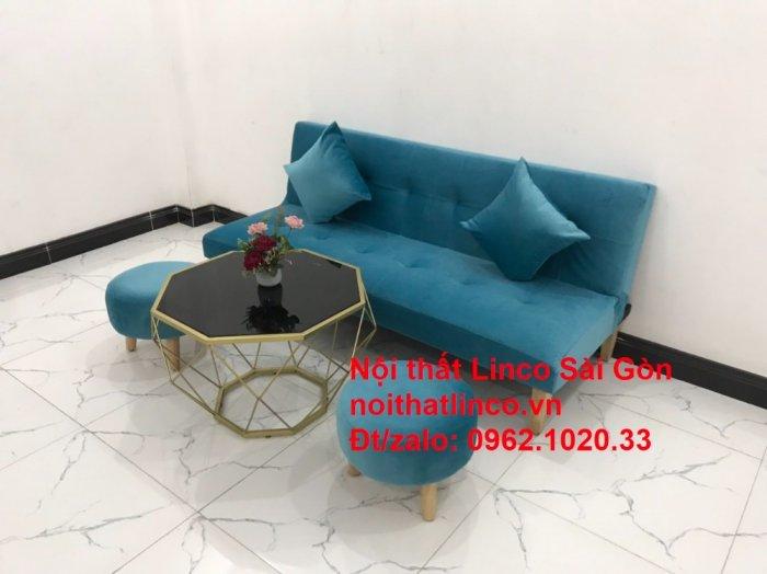 Bộ ghế sopha salon màu xanh nước biển đẹp   Sofa giá rẻ phòng khách   Nội thất Linco Sài Gòn12