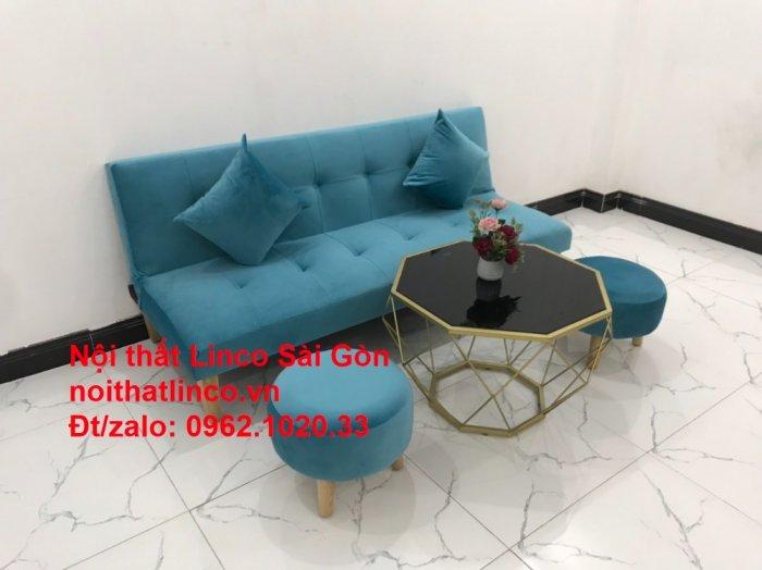 Bộ ghế sopha salon màu xanh nước biển đẹp   Sofa giá rẻ phòng khách   Nội thất Linco Sài Gòn11