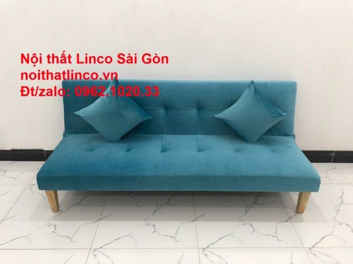 Bộ ghế sopha salon màu xanh nước biển đẹp   Sofa giá rẻ phòng khách   Nội thất Linco Sài Gòn4