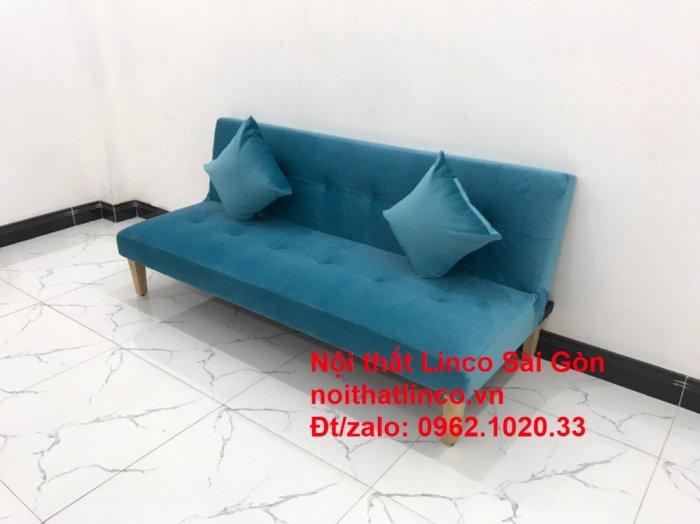 Bộ ghế sopha salon màu xanh nước biển đẹp   Sofa giá rẻ phòng khách   Nội thất Linco Sài Gòn3