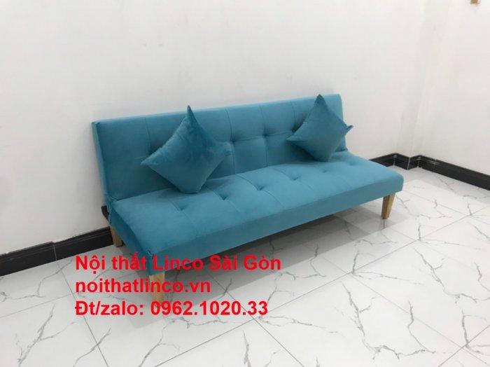 Bộ ghế sopha salon màu xanh nước biển đẹp   Sofa giá rẻ phòng khách   Nội thất Linco Sài Gòn2