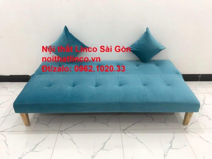 Bộ ghế sopha salon màu xanh nước biển đẹp   Sofa giá rẻ phòng khách   Nội thất Linco Sài Gòn1