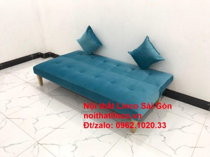 Bộ ghế sopha salon màu xanh nước biển đẹp   Sofa giá rẻ phòng khách   Nội thất Linco Sài Gòn0