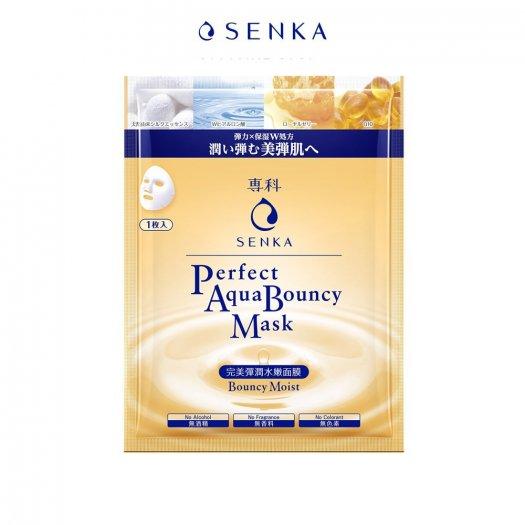 Mặt nạ Senka cấp ẩm và đàn hồi Perfect Aqua Bouncy Mask Bouncy Moist 23g0