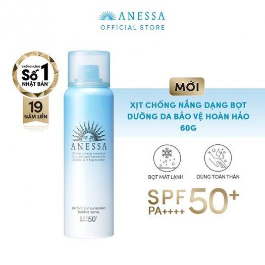 Xịt chống nắng Anessa bảo vệ hoàn hảo toàn thân dạng bọt Perfect UV Sunscreen Bubble Spray SPF 50+ PA++++2