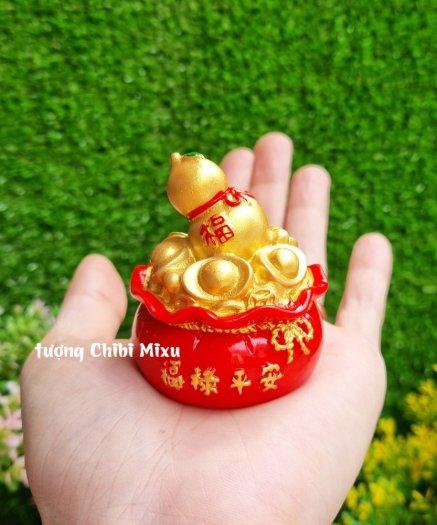 Túi vàng đỏ may mắn chữ Phúc, Chiêu Tài Tấn Lộc mẫu xu vàng và hồ lô vàng1