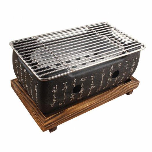 Lò nướng than Kiểu Nhật - Bếp nướng để bàn kiểu nhật hình vuông - Bếp nướng gang kiểu nhật hình tròn giá tốt tại HCM7