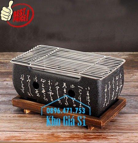 Lò nướng than Kiểu Nhật - Bếp nướng để bàn kiểu nhật hình vuông - Bếp nướng gang kiểu nhật hình tròn giá tốt tại HCM1