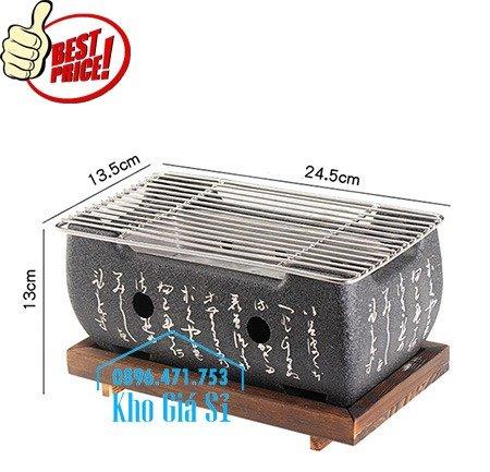 Lò nướng than Kiểu Nhật - Bếp nướng để bàn kiểu nhật hình vuông - Bếp nướng gang kiểu nhật hình tròn giá tốt tại HCM0