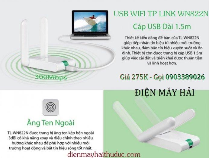 USB thu Wifi TP-Link TL-WN822N tốc dộ chuẩn 300Mbps5