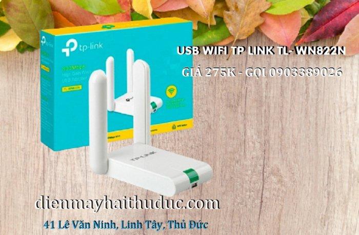 USB thu Wifi TP-Link TL-WN822N tốc dộ chuẩn 300Mbps4