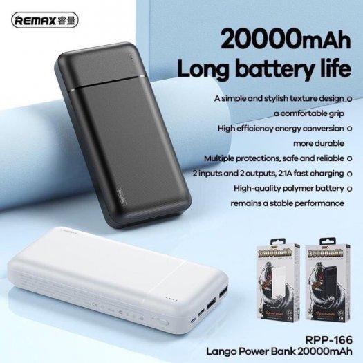 Pin Dự Phòng 20000mah Remax RPP-166 sạc nhanh 2.1 loại tốt2