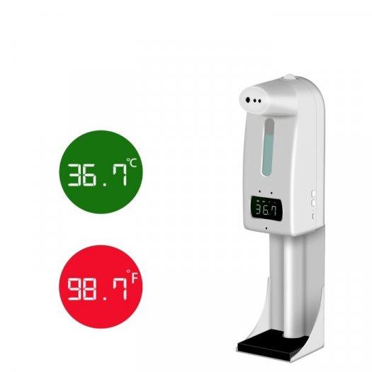 Máy đo thân nhiệt và rửa tay sát khuẩn K10 Pro1