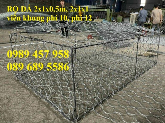 Hộp rọ đá 2x1x1, Rọ đá 2x1x1(m), 1.5x1x1(m), 2x1x0.5(m), 1x1x0.5(m)0